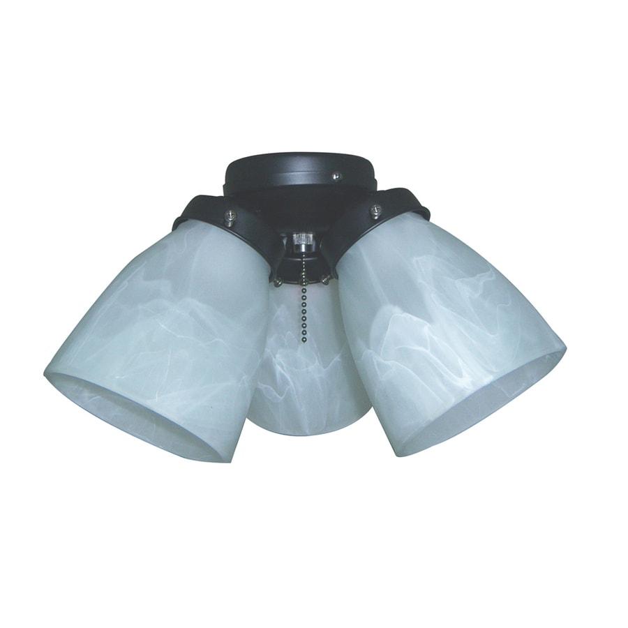 Harbor Breeze 3-Light Matte Black Ceiling Fan Light Kit with Bell Shade