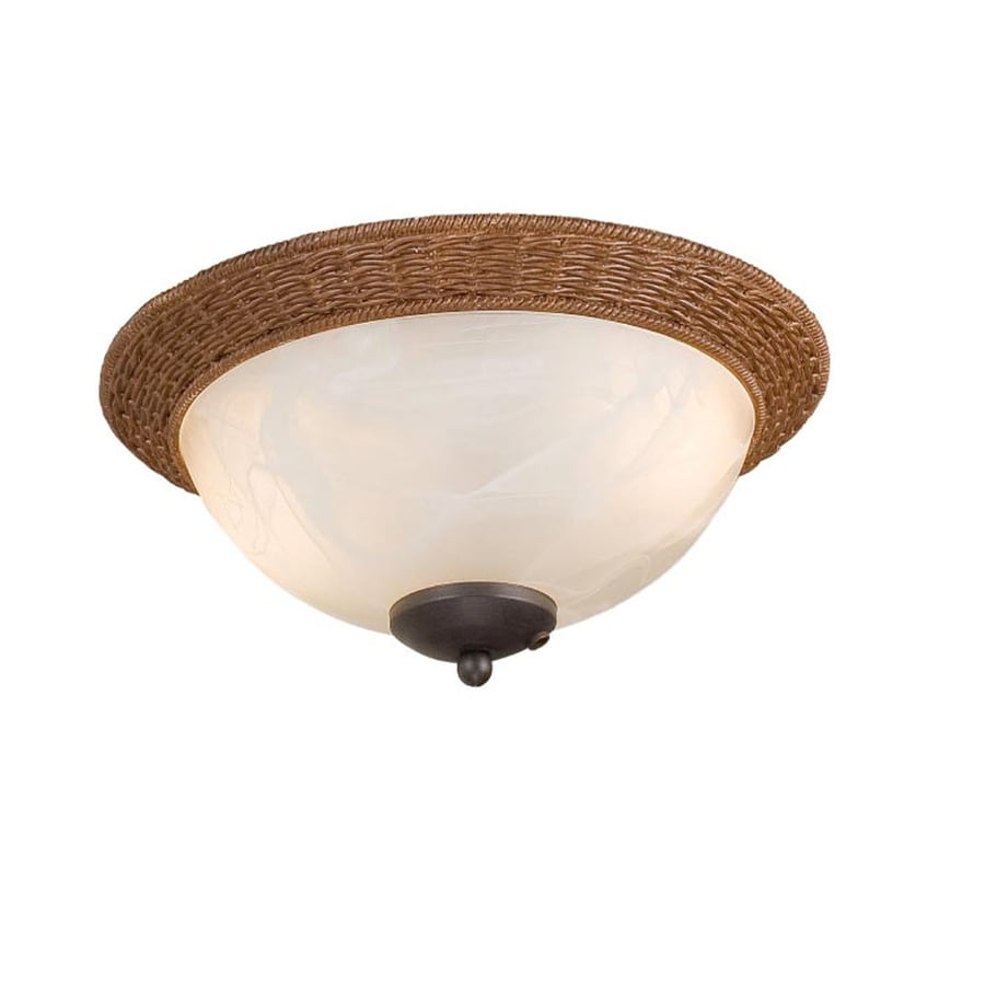 Harbor Breeze 2-Light Aged Bronze Incandescent Ceiling Fan Light Kit with Alabaster Glass