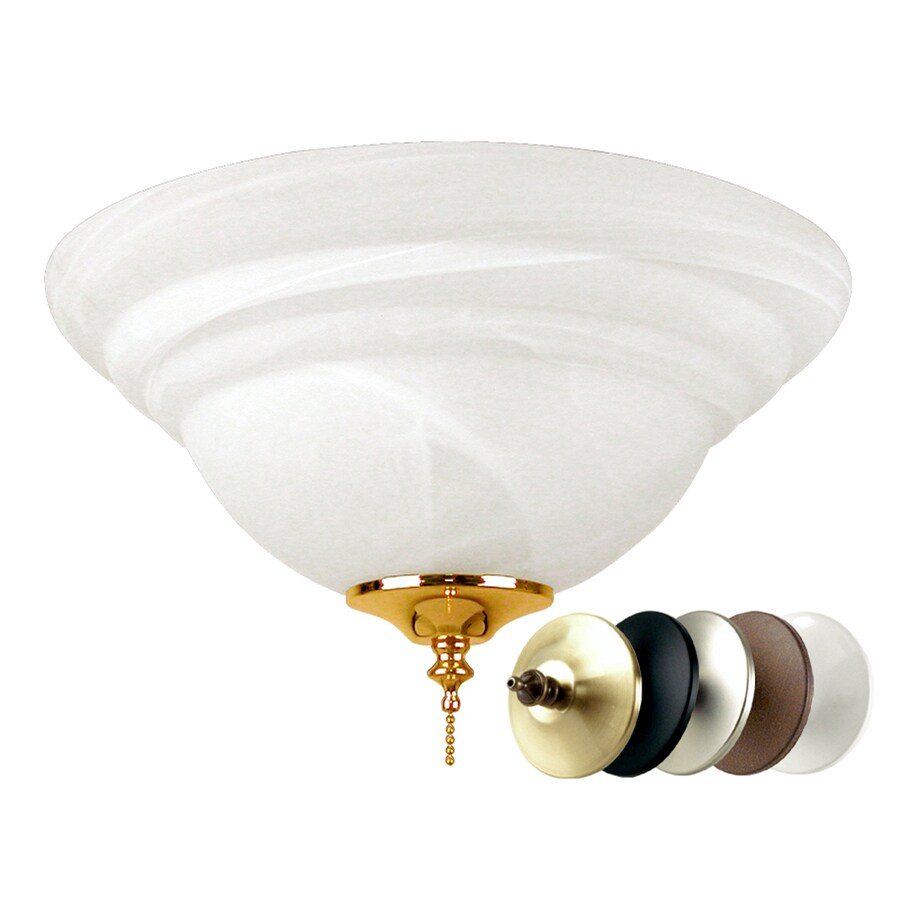 Harbor Breeze 2-Light Multiple Finials (Abzc, Ab, Bnk, Mbk, Lw) Compact Fluorescent Light Gu24 Ceiling Fan Light Kit with Glass or Shade