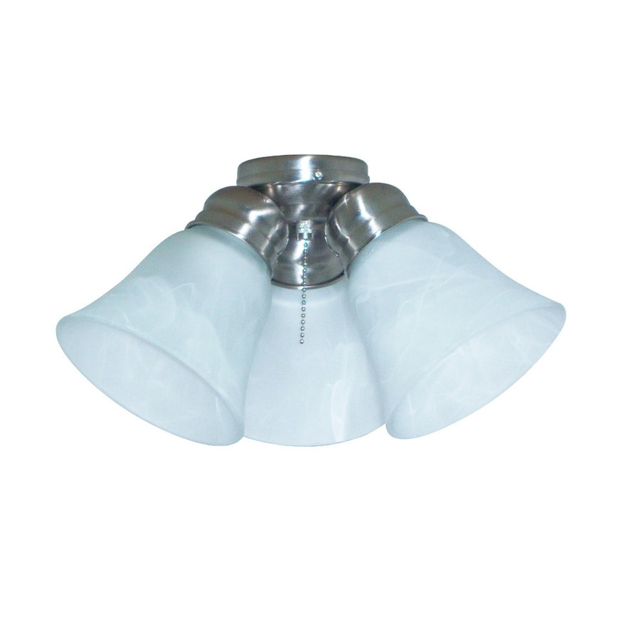Harbor Breeze 3-Light Brushed Nickel Ceiling Fan Light Kit with Bell Shade ENERGY STAR