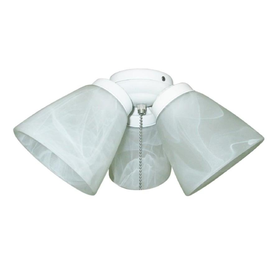 harbor breeze 3 light white incandescent ceiling fan light. Black Bedroom Furniture Sets. Home Design Ideas