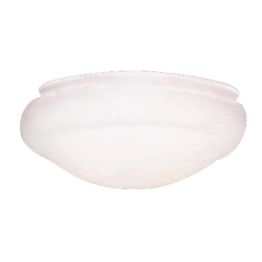Harbor Breeze 10-in H 10-in W White Frost Globe Ceiling Fan Light Shade