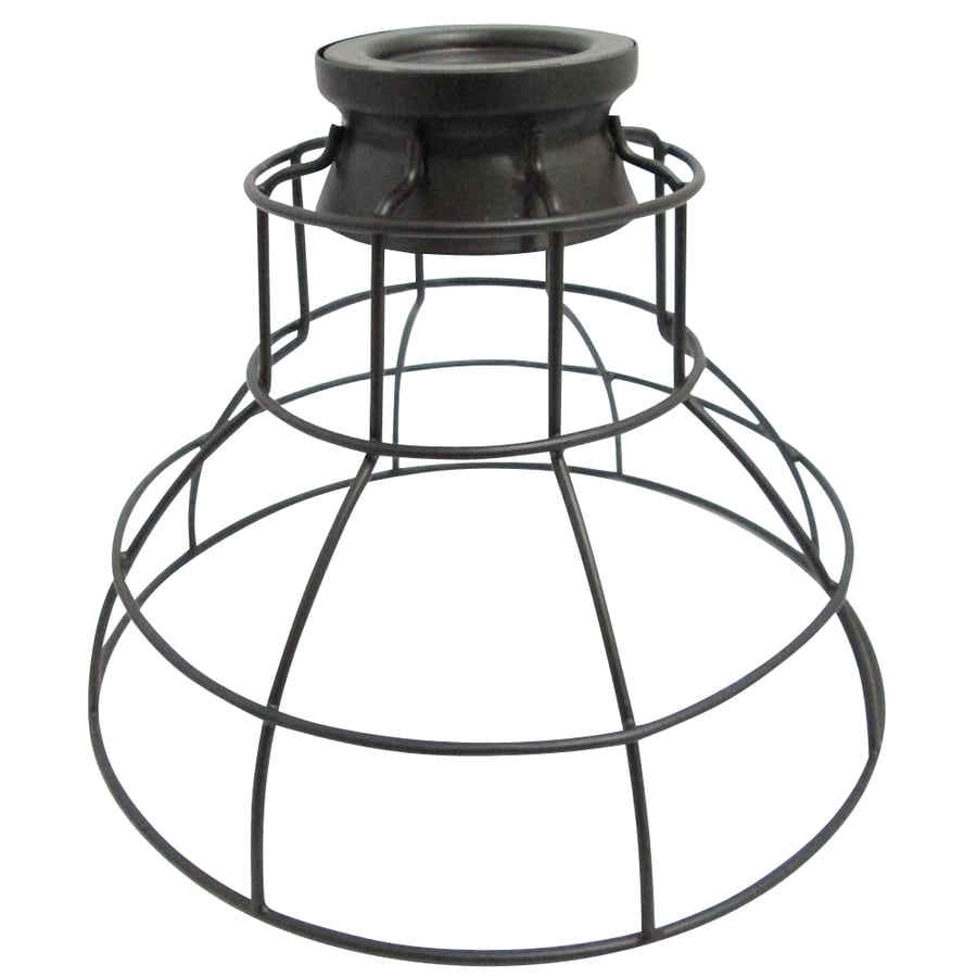 Shop lighting parts accessories at lowes portfolio 675 in h 85 in w french bronze wire industrial cage pendant light greentooth Choice Image