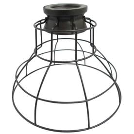 Shop light shades at lowes portfolio 675 in h 85 in w french bronze wire industrial cage pendant light greentooth Choice Image