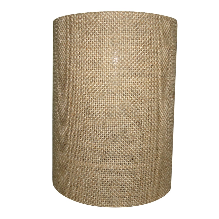 Portfolio 8-in H 6-in W Burlap Cylinder Pendant Light Shade