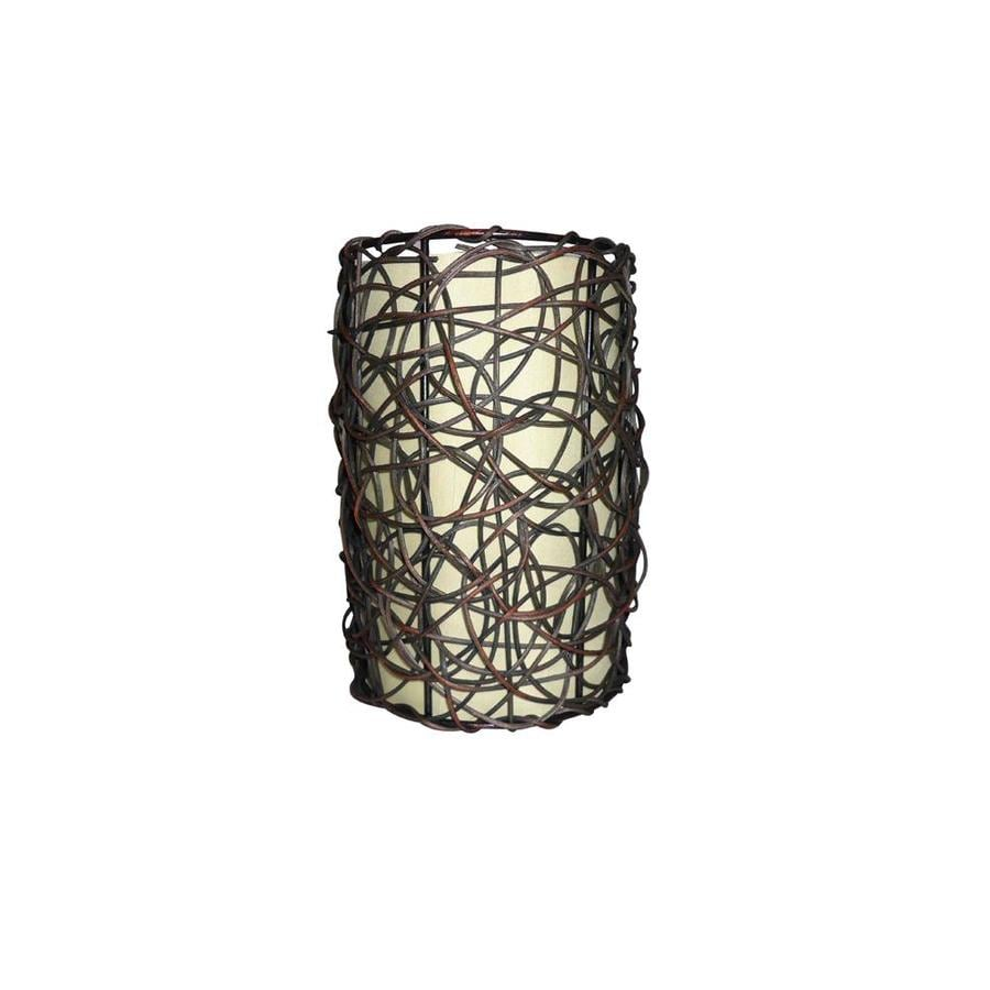 Portfolio 9-in H 6-in W Wicker Cylinder Pendant Light Shade