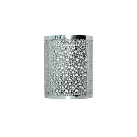 Portfolio Eyerly 7.5 In H 6 In W Platinum Cylinder Pendant Light Shade