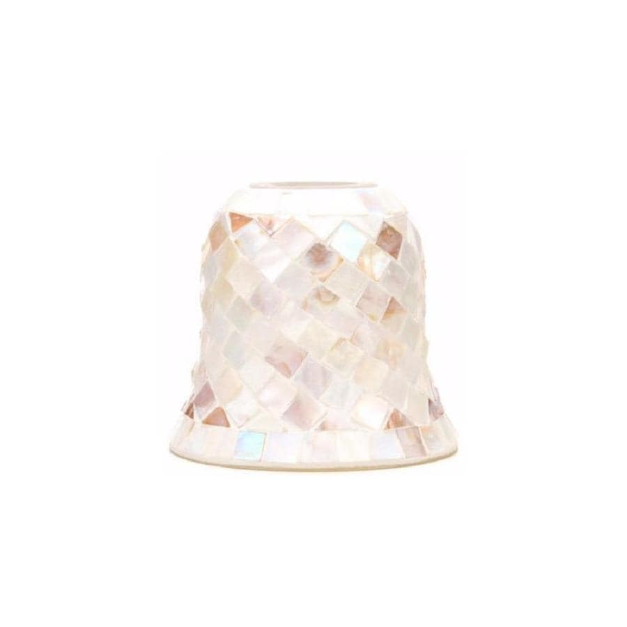 Portfolio 5.1-in H 5.75-in W Mosaic Art Glass Bell Pendant Light Shade