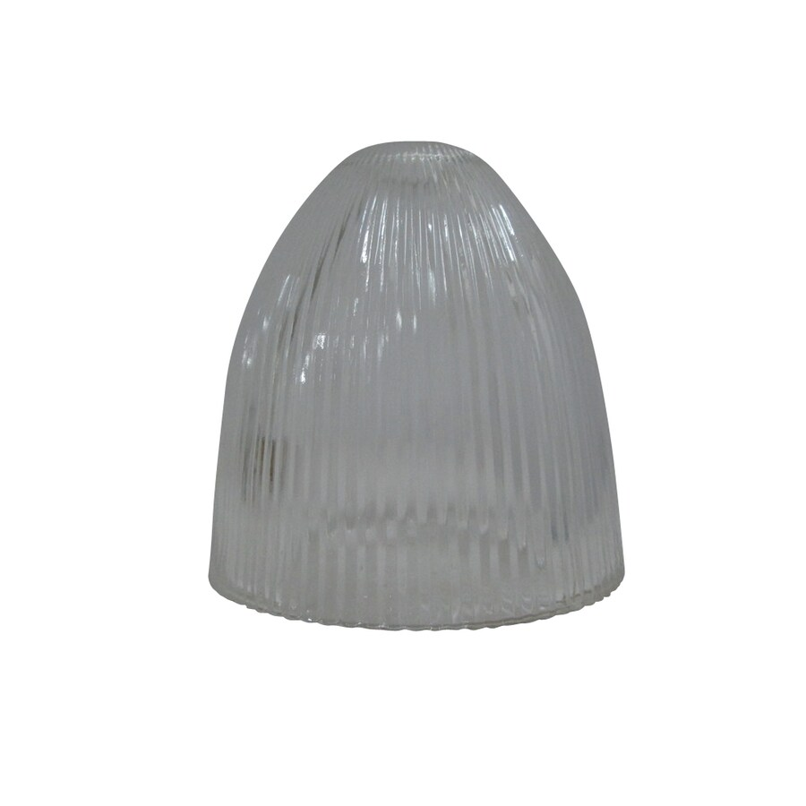 Portfolio 5.88-in H 5.88-in W Clear Ribbed Glass Bell Pendant Light Shade