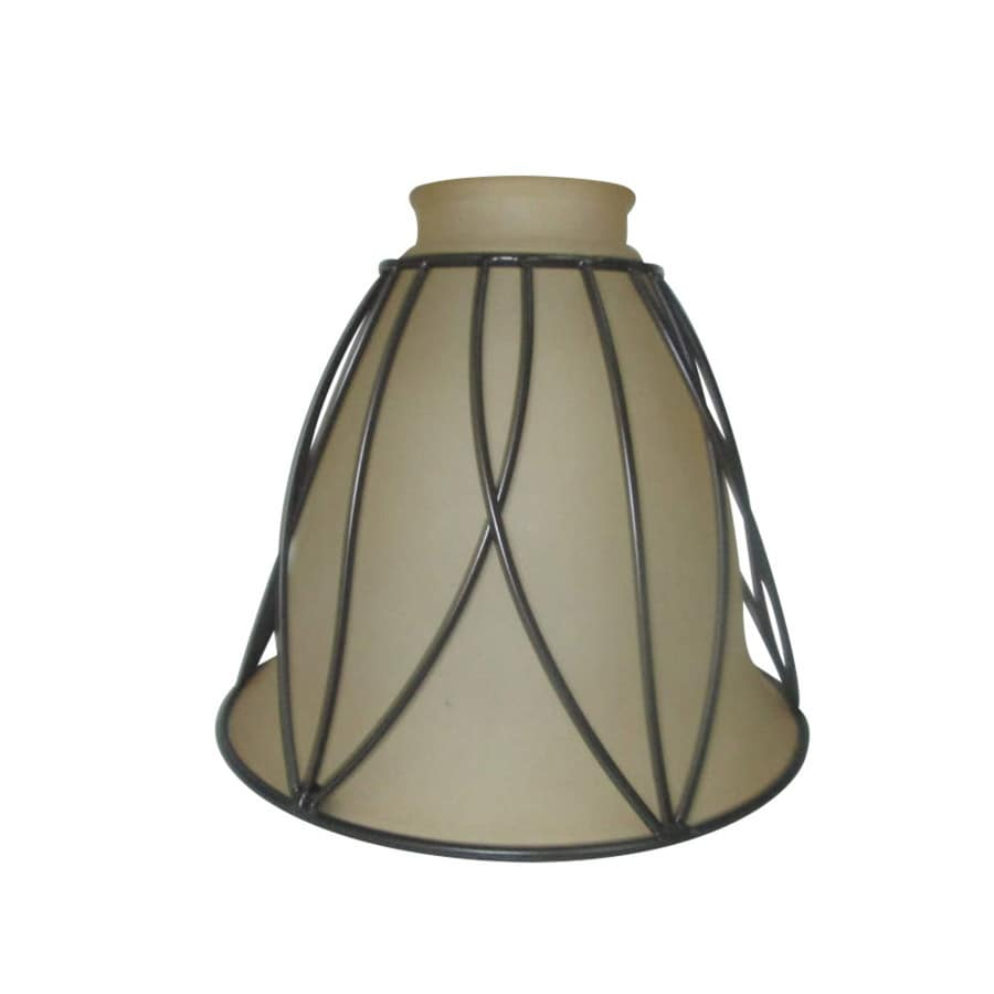Portfolio 5.125-in H 6-in W Bronze Rustic Bell Vanity Light Shade