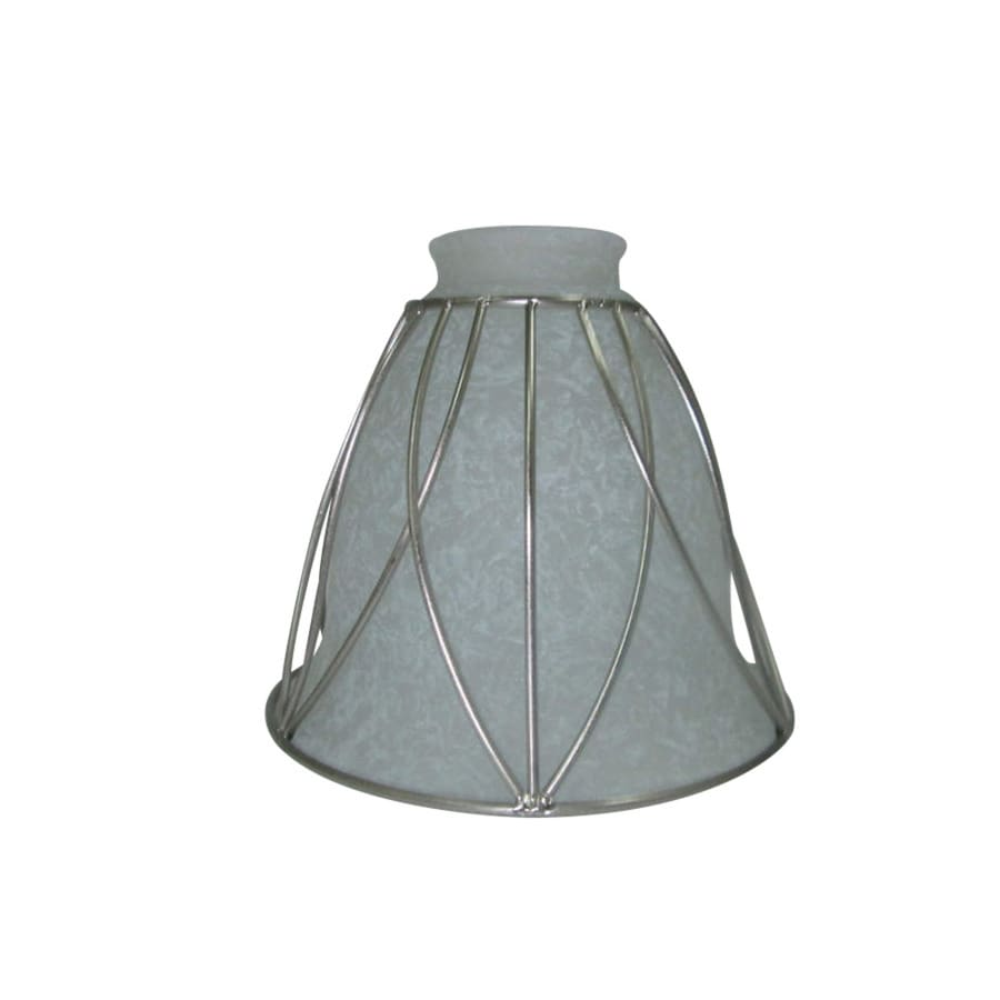Shop Portfolio 5.125-in H 6-in W Brushed Nickel Rustic Bell Vanity Light Shade at Lowes.com