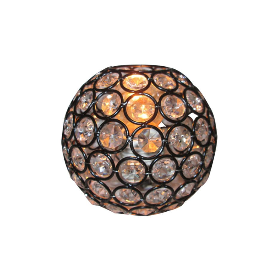 Vanity Light Glass Globes : Shop Style Selections Ladura 4-in H 4.875-in W Bronze Crystal Crystal Globe Vanity Light Shade ...