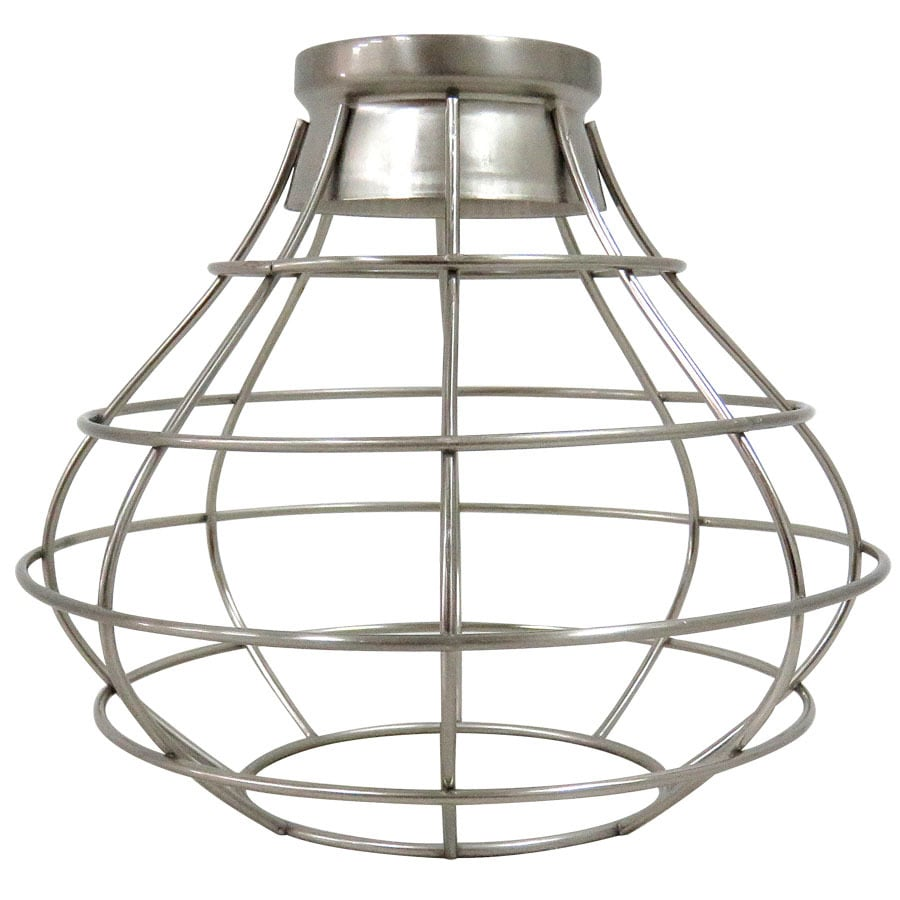 Portfolio 8.38-in H 8.38-in W Brushed Nickel Wire Industrial Cage Pendant Light  sc 1 st  Loweu0027s & Shop Portfolio 8.38-in H 8.38-in W Brushed Nickel Wire Industrial ...