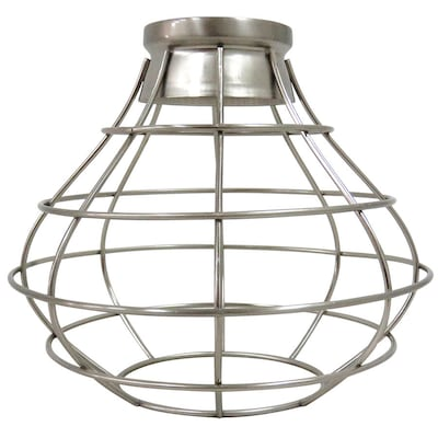 Ravensport 8 38 In H W Brushed Nickel Wire Cage Pendant Light Shade