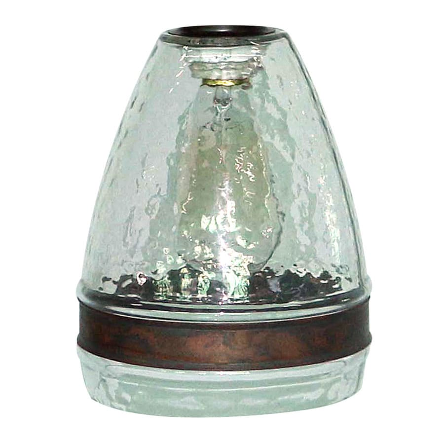 Shop Portfolio 7.5-in H 6-in W Clear Textured Glass Bell Pendant Light Shade at Lowes.com