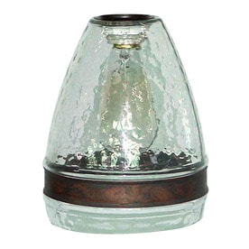 Portfolio 7 5 In H 6 W Clear Textured Gl Bell Pendant Light Shade