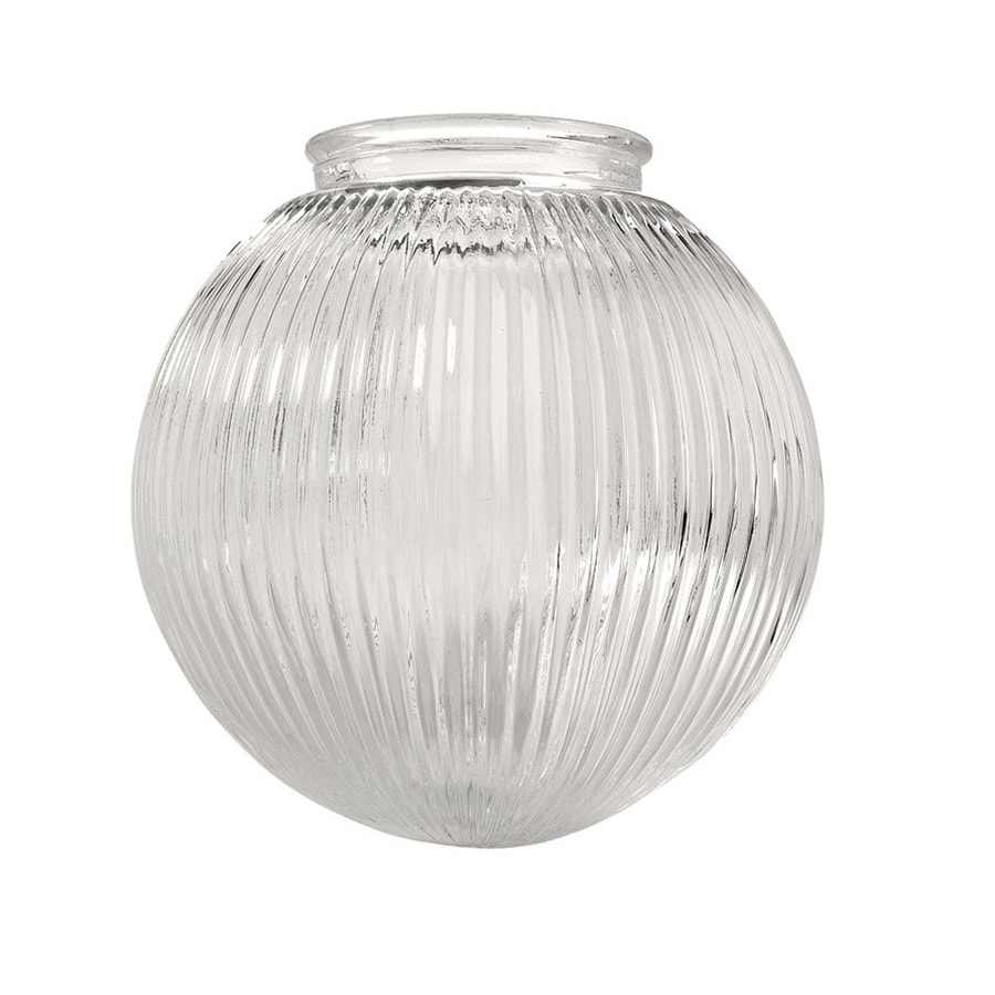 Vanity Light Shade Glass : Shop Litex 6.2-in H 6.3-in W Clear Ribbed Glass Globe Vanity Light Shade at Lowes.com