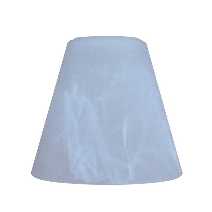 Portfolio 4.84-in H 4.84-in W Alabaster Alabaster Glass Cone Vanity Light Shade