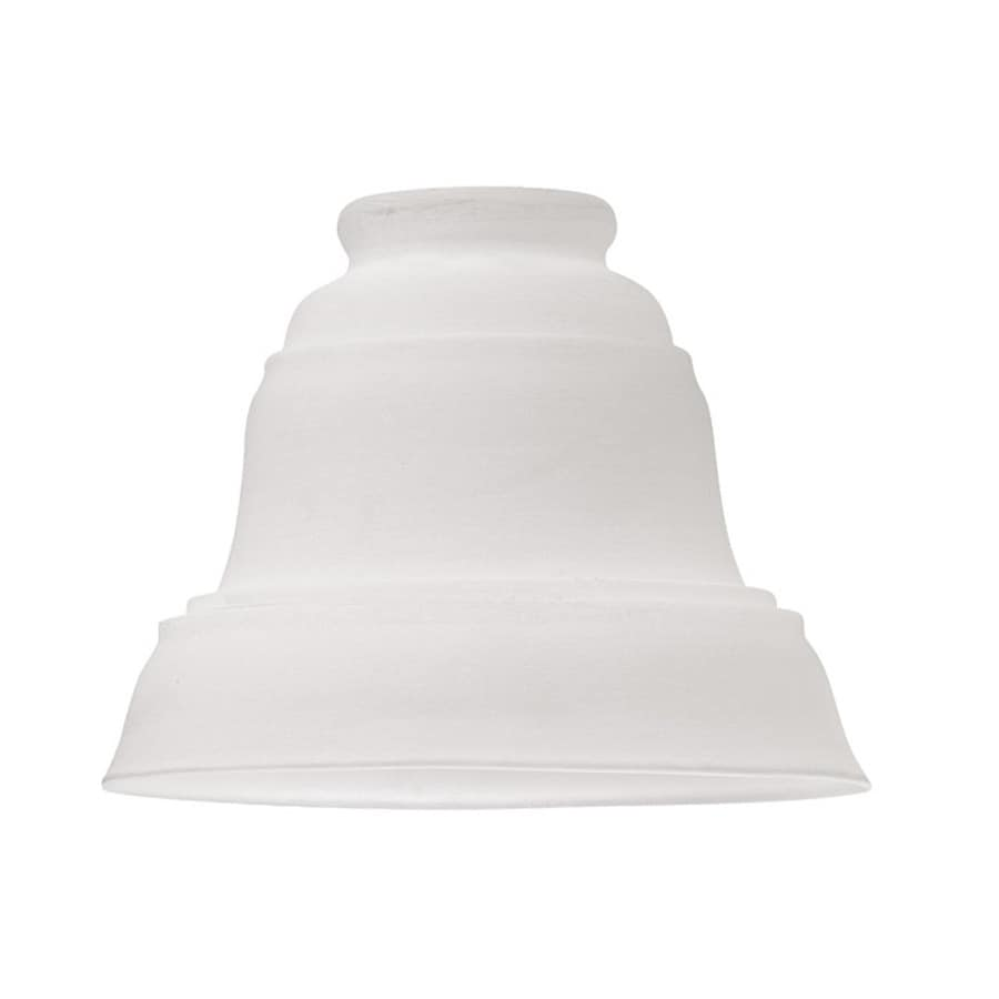 Vanity Light Shade Lowes : Shop Harbor Breeze 4.25-in H 5.75-in W Antique White Bell Vanity Light Shade at Lowes.com