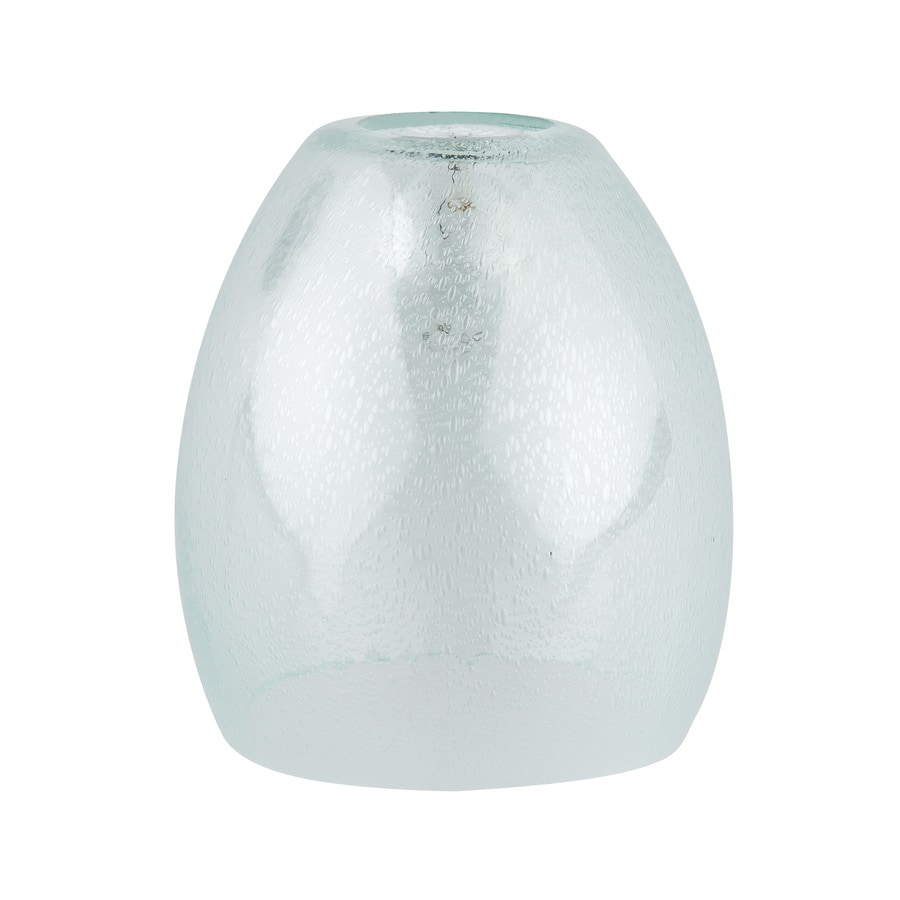 Shop light shades at lowes portfolio 5375 in h 5 in w clear seeded glass bell vanity light shade aloadofball Gallery