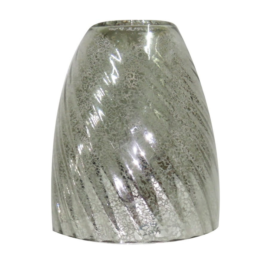 Vanity Light Shade Lowes : Shop Portfolio 5.5-in H 4.75-in W Mercury Mercury Glass Bell Vanity Light Shade at Lowes.com
