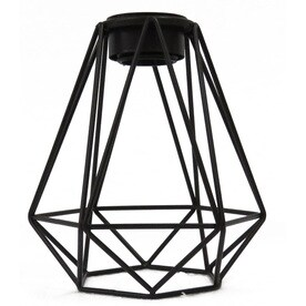 Shop lighting parts accessories at lowes portfolio 6 in h 6 in w bronze wire industrial geometric vanity light shade greentooth Gallery