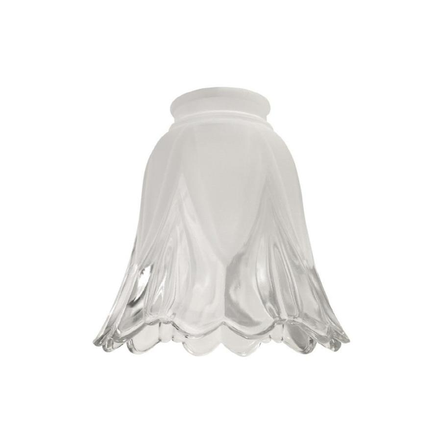 Litex 5.25-in H 5.125-in W Clear/Frost Bell Vanity Light Shade
