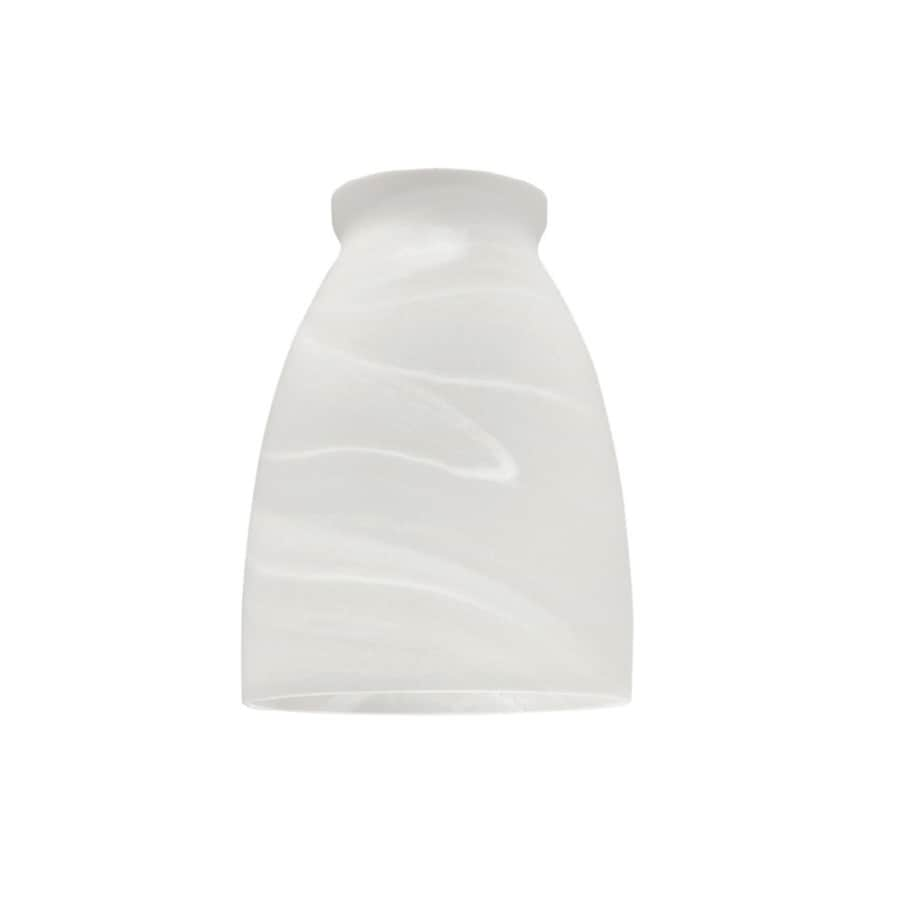 Shop Litex 4.75-in H 3.75-in W Alabaster Alabaster Glass Cone Vanity Light Shade at Lowes.com