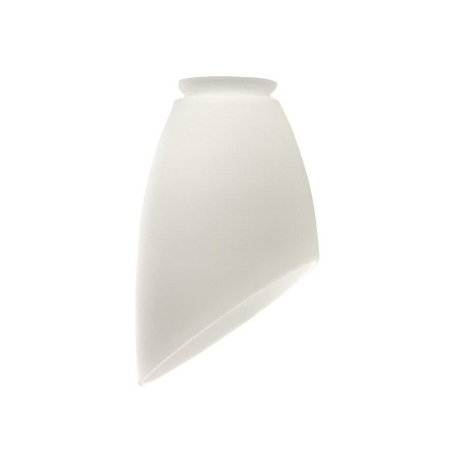 Harbor Breeze 4-1/2-in Matte White Vanity Light Glass