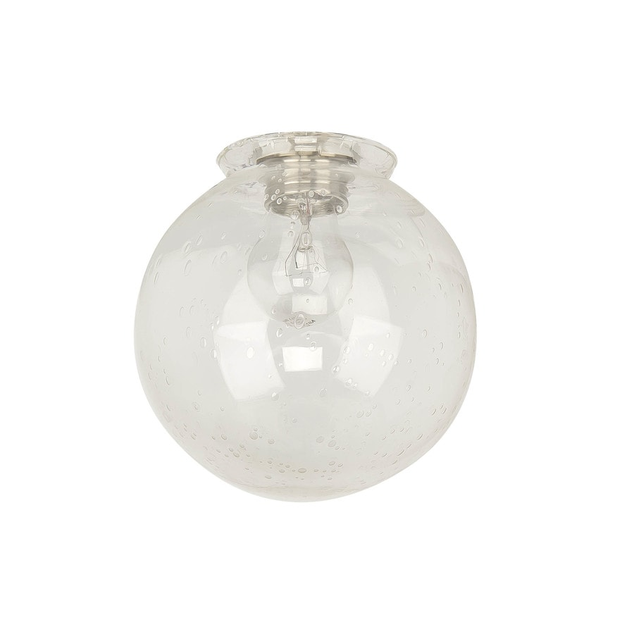 Litex 6 In H 5 87 In W Clear Seeded Seeded Glass Orb