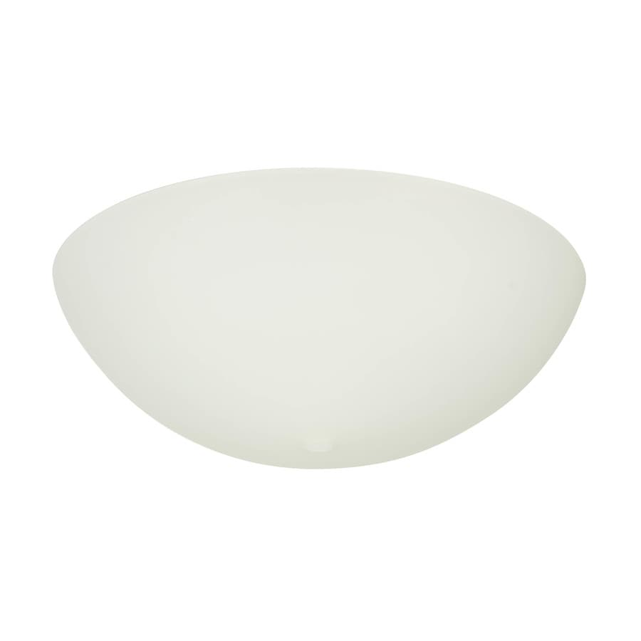Project Source 3 25 In H 9 75 In W White Frost Bowl Flush Mount Light Shade In The Light Shades Department At Lowes Com