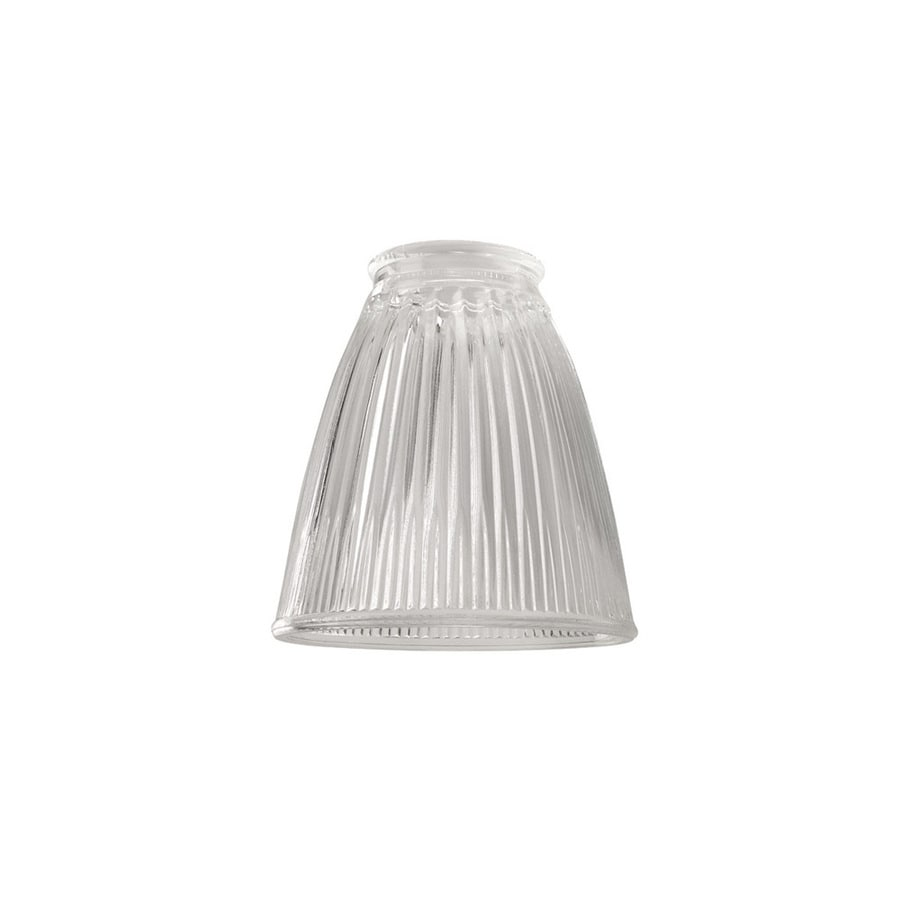 Shop Portfolio 4.76-in H 4.37-in W Clear Ribbed Glass Bell Vanity Light Shade at Lowes.com