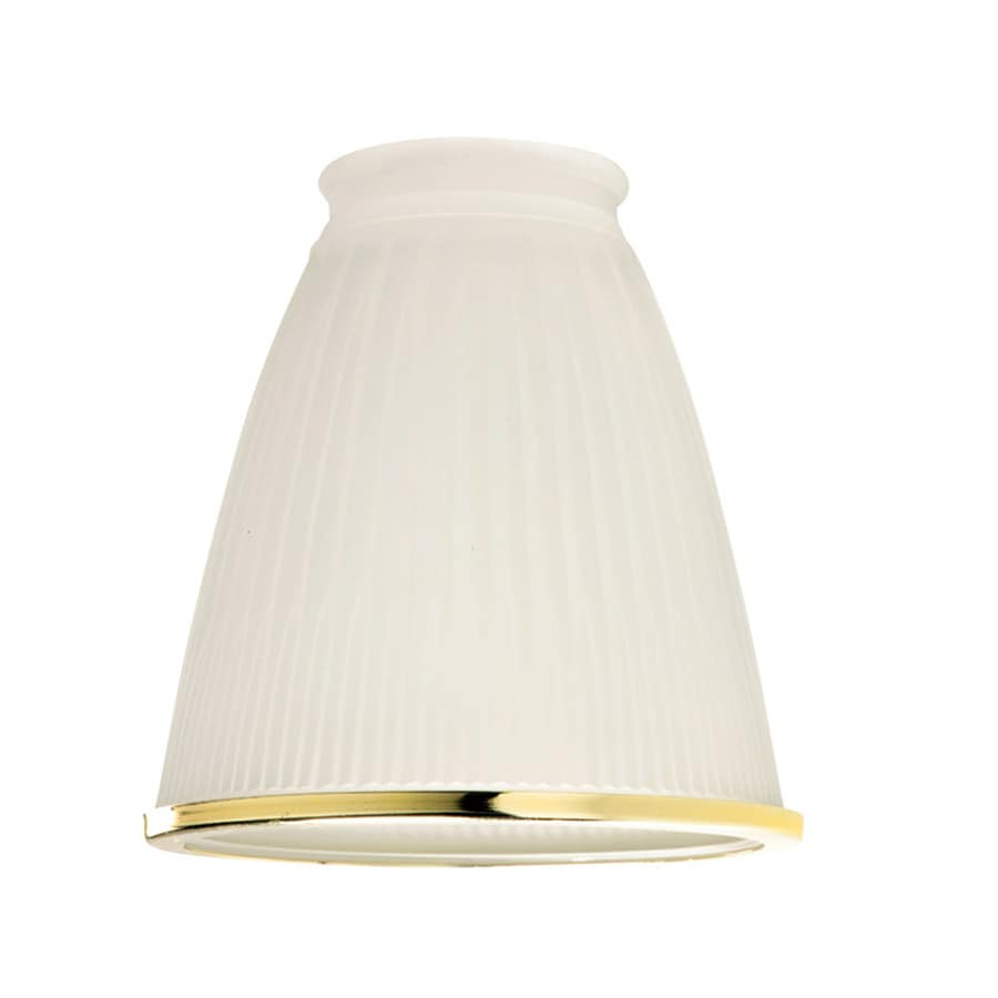 Harbor Breeze 5-in H 4.25-in W Frosted Ribbed Glass Bell Vanity Light Shade