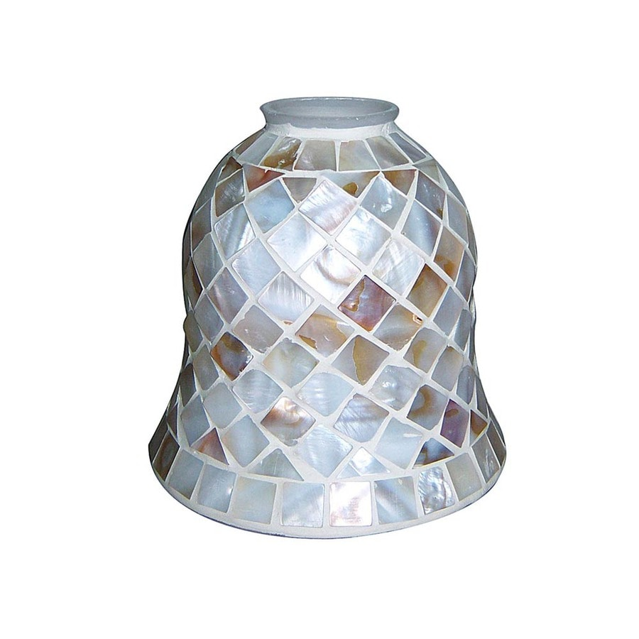 Portfolio 4-7/8-in Mosaic Vanity Light Glass