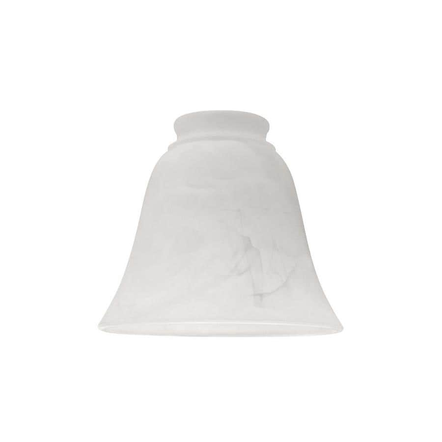 Litex 6-in H 6-in W Alabaster Alabaster Glass Bell Ceiling Fan Light Shade