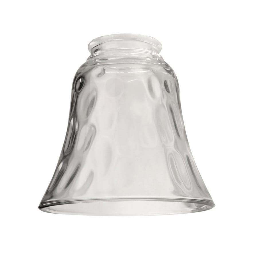 Litex 4.75-in H 4.875-in W Clear Hammered Bell Vanity Light Shade