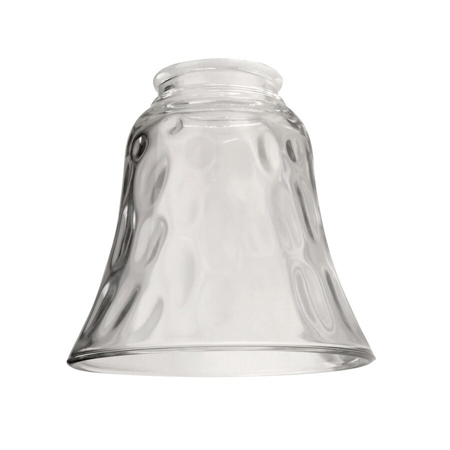 Vanity Light Shade Lowes : Shop Litex 4.75-in H 4.875-in W Clear Hammered Bell Vanity Light Shade at Lowes.com