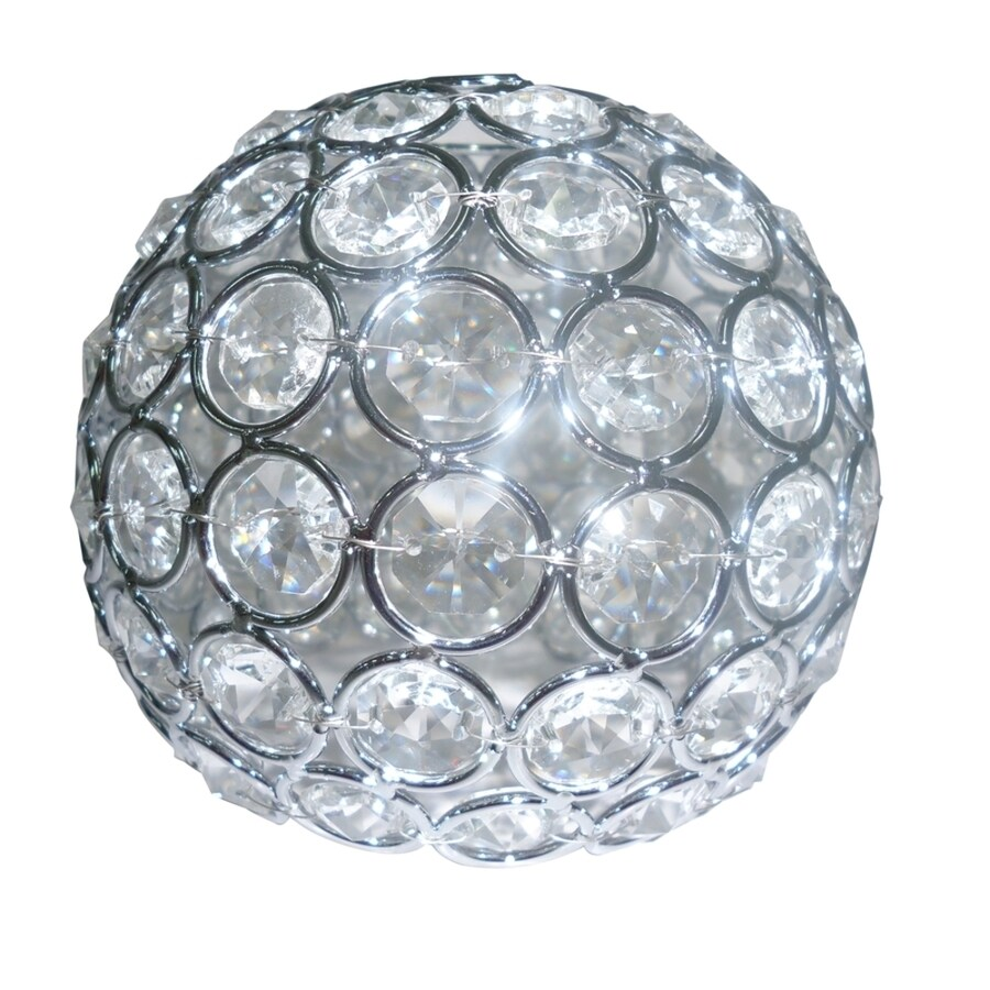 Shop Style Selections Ladura 4-in H 4.75-in W Chrome Crystal Globe Vanity Light Shade at Lowes.com