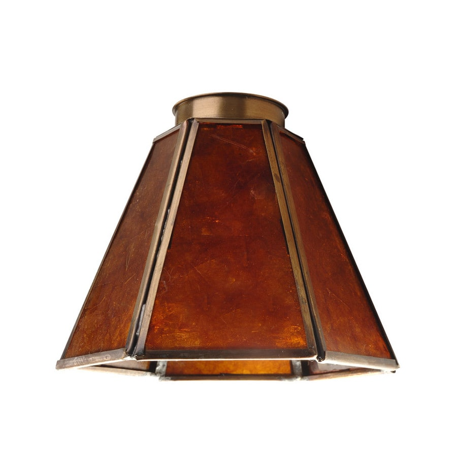 Shop Harbor Breeze 6-in H 5-in W Antique Brass Vanity Light Shade at Lowes.com