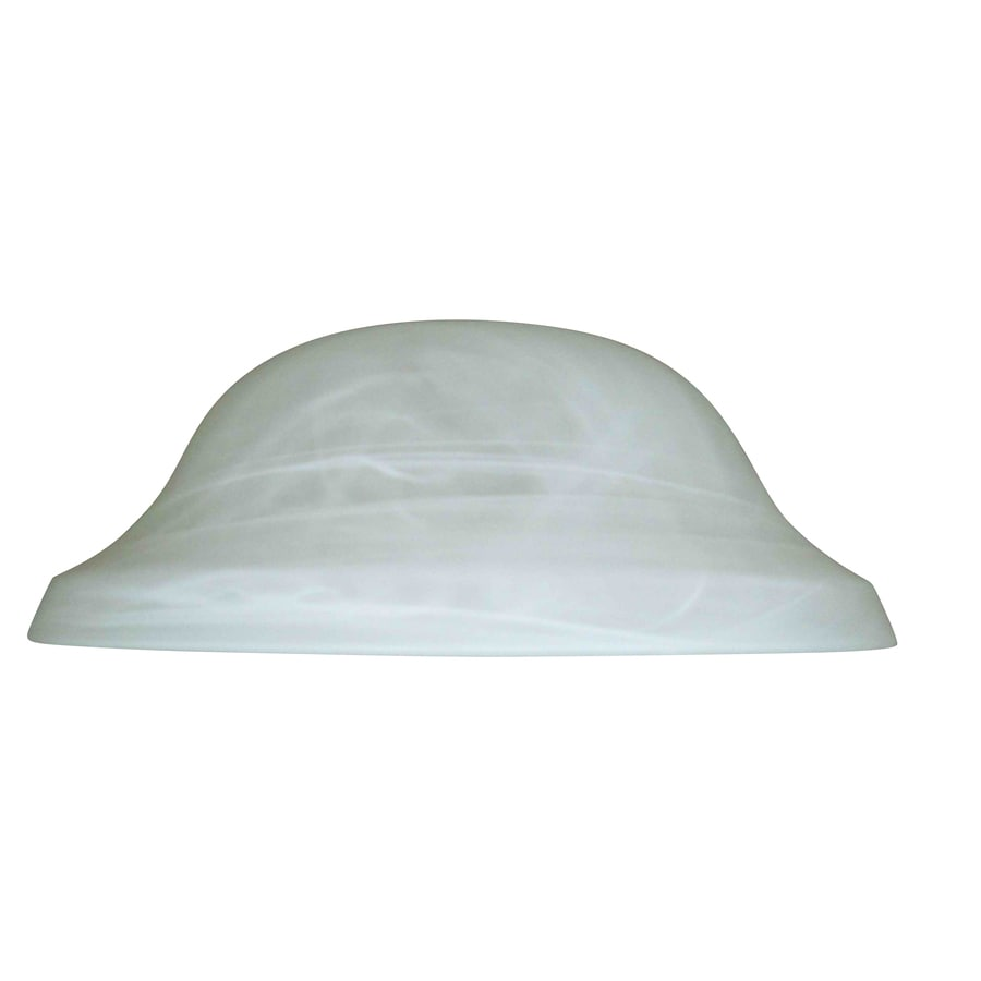 Litex 4 In H 11 13 W Alabaster Glass Globe Ceiling Fan Light Shade