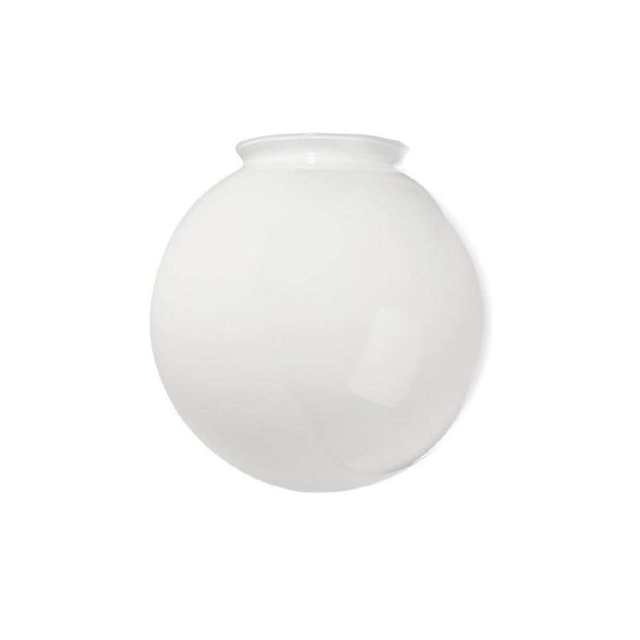 Litex 8-in H 8-in W White Globe Ceiling Fan Light Shade