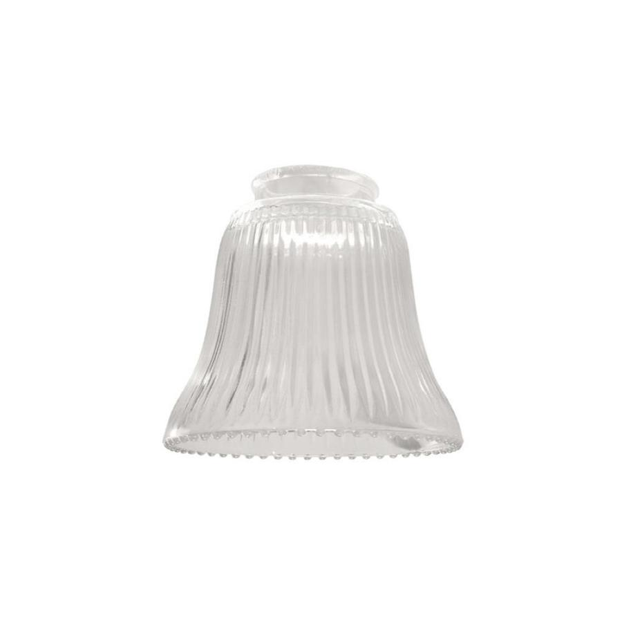 Vanity Light Shade Glass : Shop Litex 4.5-in H 4.75-in W Clear Ribbed Glass Bell Vanity Light Shade at Lowes.com