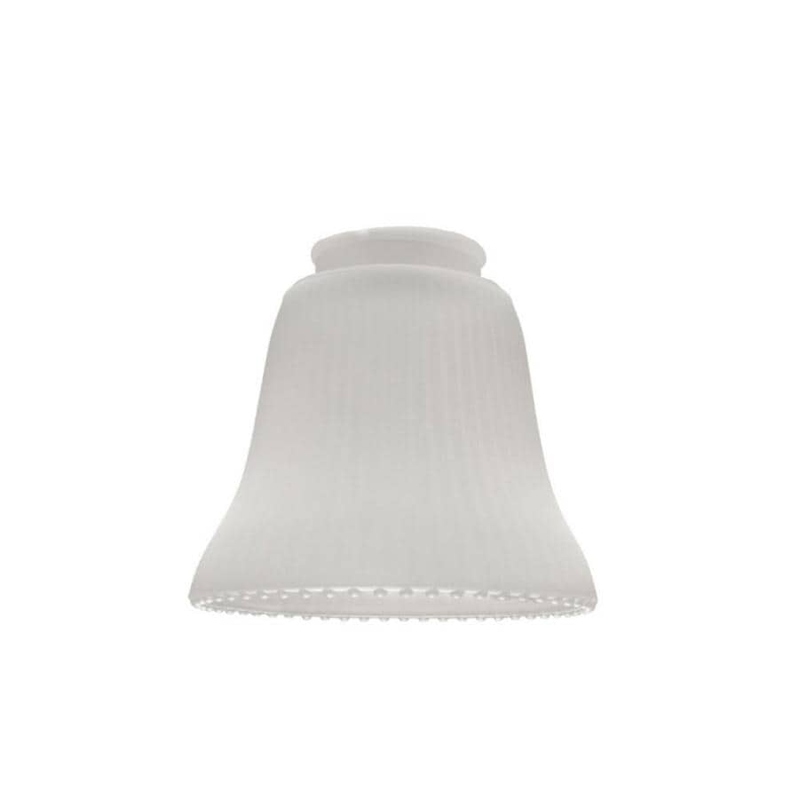Shop Litex 4.5-in H 4.75-in W Frost Ribbed Glass Bell Vanity Light Shade at Lowes.com