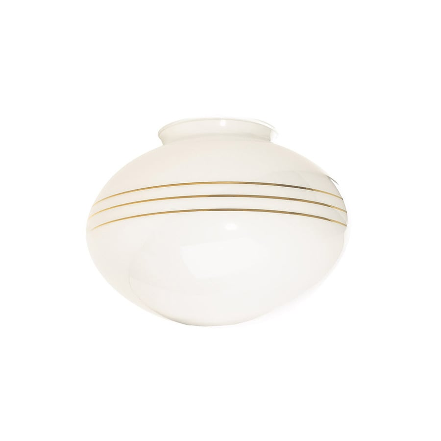 Harbor Breeze 9-in White Opal Vanity Light Glass