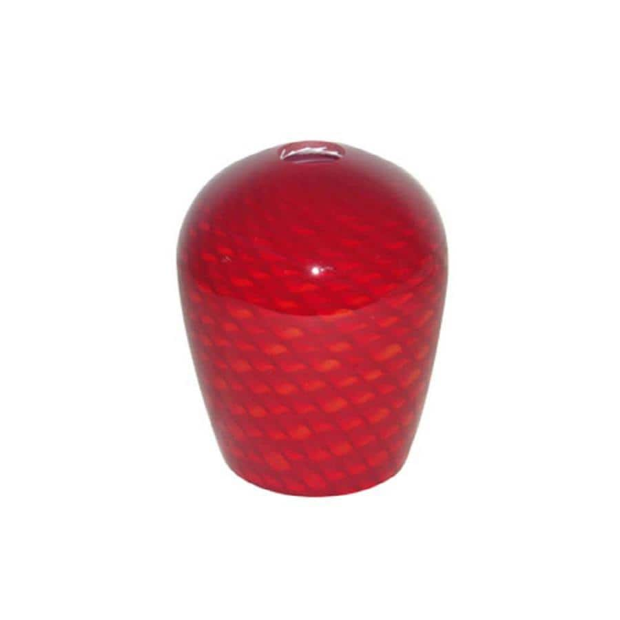 Portfolio 6-in H 5-in W Red Scale Art Glass Pendant Light Shade