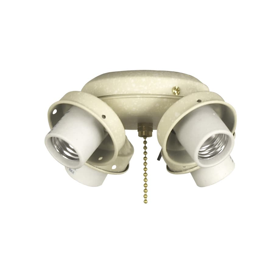 Harbor Breeze 4-Light Sandstone A-15 Medium Base Ceiling Fan Light Kit