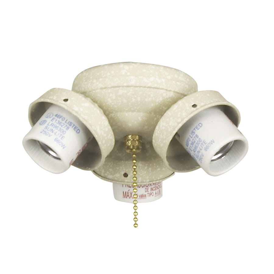 Harbor Breeze 3-Light Sandstone A-15 Medium Base Ceiling Fan Light Kit