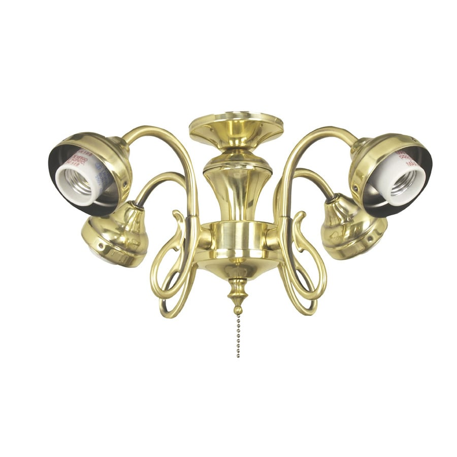 Harbor Breeze 4-Light Burnished Brass A-15 Medium Base Ceiling Fan Light Kit