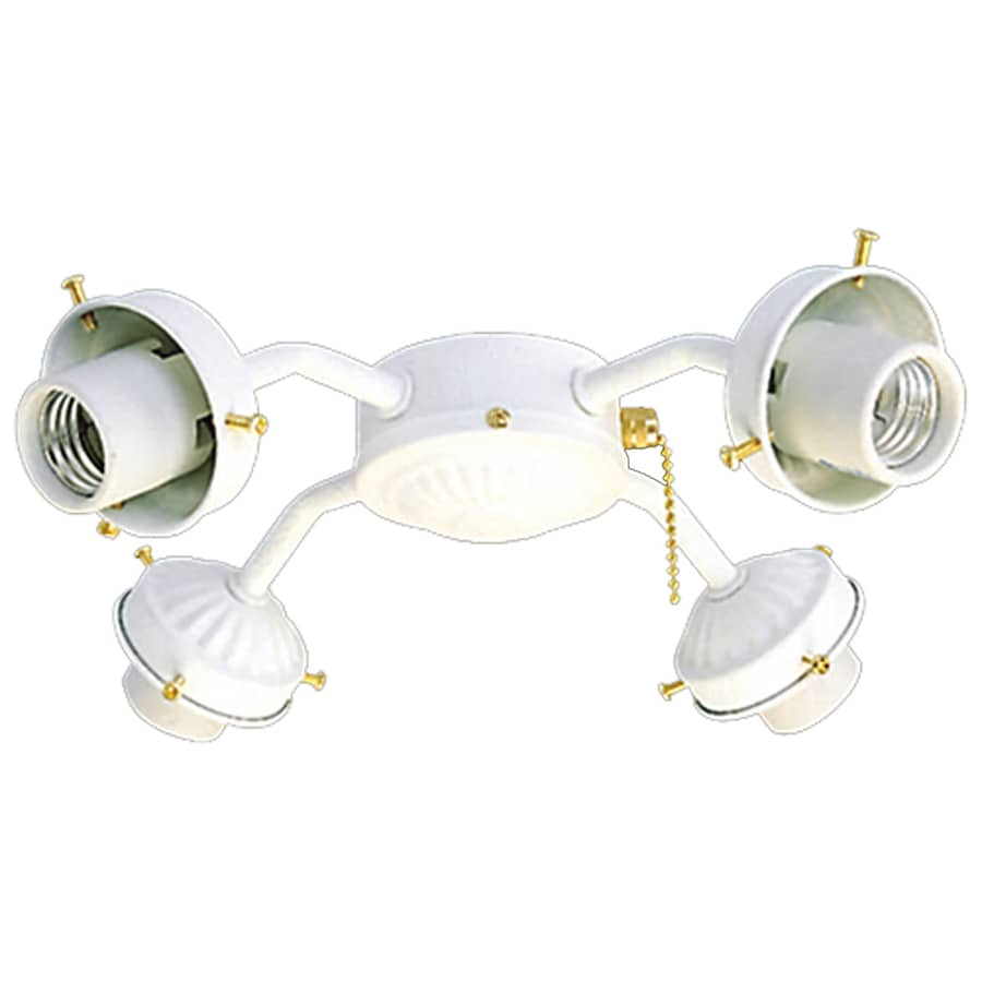 Harbor Breeze 4-Light Textured White A-15 Medium Base Ceiling Fan Light Kit