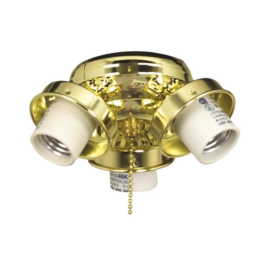 Litex 3-Light Bright Brass A-15 Candelabra Base Ceiling Fan Light Kit